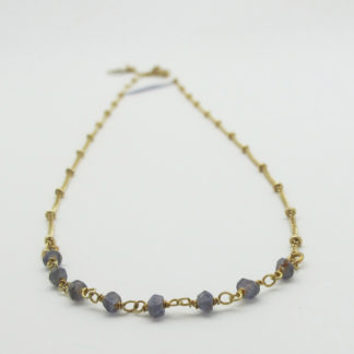 collier or simple pierres fines iolite