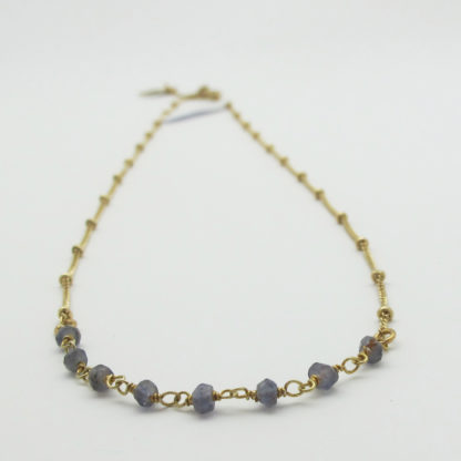 collier or simple pierres fines iolite